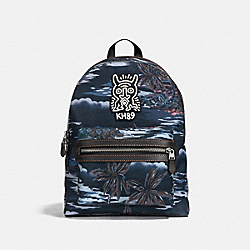 COACH X KEITH HARING ACADEMY BACKPACK - JI/BLACK HAWAIIAN PRINT - COACH F29055