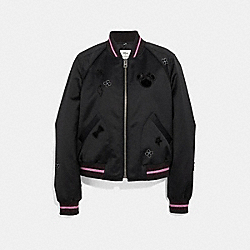 MINNIE MOUSE CROPPED SOUVENIR JACKET - BLACK - COACH F29068