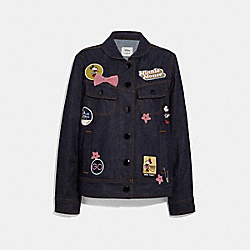 MINNIE MOUSE DENIM JACKET - DENIM - COACH F29069