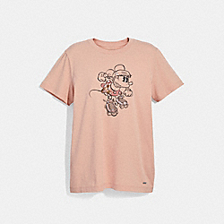 MINNIE MOUSE T-SHIRT - ROSECLOUD - COACH F29070