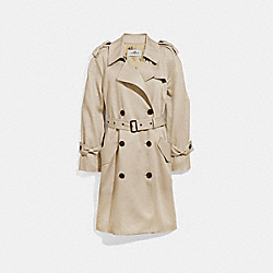COACH DRAPEY TRENCH - LINEN - F29071