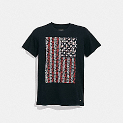 AMERICANA T-SHIRT - BLACK - COACH F29076