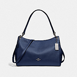 MIA SHOULDER BAG - SV/METALLIC BLUE - COACH F29137