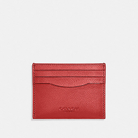 COACH CARD CASE - TRUE RED - f29140