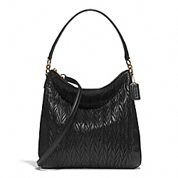 COACH GATHERED CONVERTIBLE HOBO - BRASS/BLACK - F29167