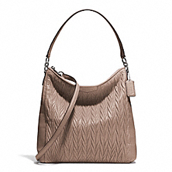 GATHERED CONVERTIBLE HOBO - SILVER/PUTTY - COACH F29167