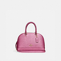 MINI SIERRA SATCHEL - METALLIC ANTIQUE BLUSH/LIGHT GOLD - COACH F29170