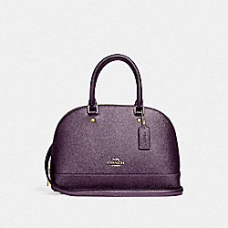 MINI SIERRA SATCHEL - METALLIC RASPBERRY/LIGHT GOLD - COACH F29170