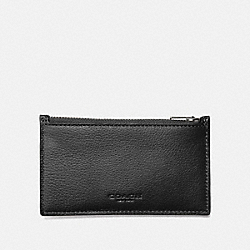 COACH ZIP CARD CASE - BLACK - F29272