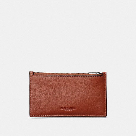 COACH ZIP CARD CASE - PEPPER/BLACK ANTIQUE NICKEL - F29272