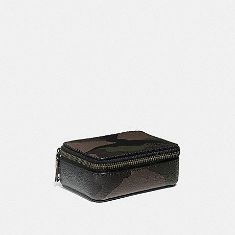 COACH PILL BOX WITH CAMO PRINT - DARK GREEN - F29278
