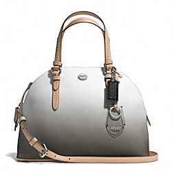 COACH PEYTON OMBRE CORA DOMED SATCHEL - SILVER/CHARCOAL - F29282