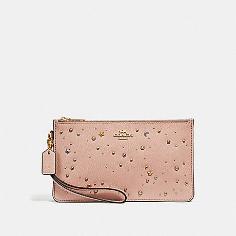 COACH CROSBY CLUTCH WITH CELESTIAL STUDS - nude pink/light gold - f29324