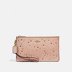 CROSBY CLUTCH WITH CELESTIAL STUDS - f29324 - nude pink/light gold