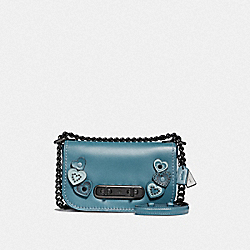 COACH SWAGGER SHOULDER BAG 20 WITH HEARTS - DK/CHAMBRAY - COACH F29337