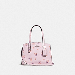 CHARLIE CARRYALL 28 WITH FLORAL BOW PRINT - ICE PINK/SILVER - COACH F29348