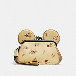 KISSLOCK WRISTLET WITH FLORAL MIX PRINT AND MINNIE MOUSE EARS - VANILLA MULTI/SILVER - COACH F29360