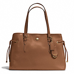 COACH PEYTON LEATHER DRAWSTRING CARRYALL - BRASS/SADDLE - F29362