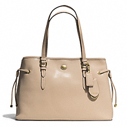 COACH PEYTON SAFFIANO LEATHER DRAWSTRING CARRYALL - BRASS/SAND - F29362