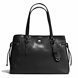PEYTON SAFFIANO LEATHER DRAWSTRING CARRYALL - SILVER/BLACK - COACH F29362