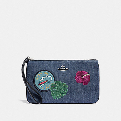 COACH LARGE WRISTLET WITH BLUE HAWAII PATCHES - SVM64 - f29372