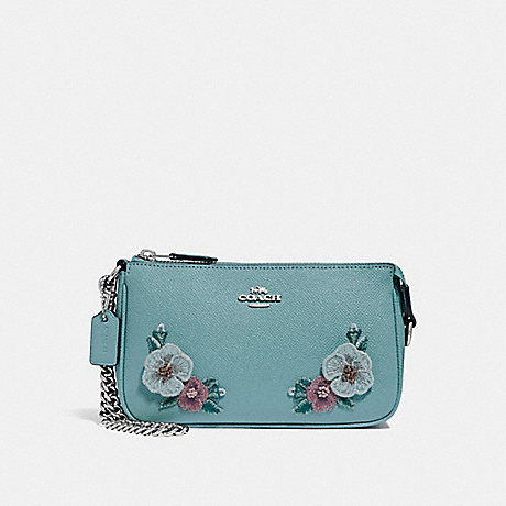 COACH LARGE WRISTLET 19 WITH HAWAIIAN FLORAL EMBROIDERY - SVNGV - f29378