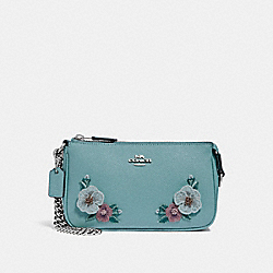 LARGE WRISTLET 19 WITH HAWAIIAN FLORAL EMBROIDERY - SVNGV - COACH F29378