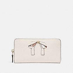 ACCORDION ZIP WALLET WITH BOW - CHALK/IMITATION GOLD - COACH F29382