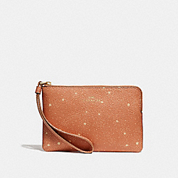 CORNER ZIP WRISTLET WITH CELESTIAL PRINT - f29405 - SUNRISE/light gold