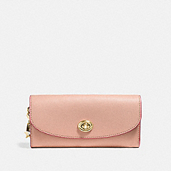 COACH SLIM ENVELOPE WALLET - nude pink/imitation gold - F29407