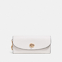 COACH SLIM ENVELOPE WALLET - CHALK/IMITATION GOLD - F29407