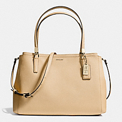 COACH MADISON CHRISTIE CARRYALL IN SAFFIANO LEATHER - LIGHT GOLD/TAN - F29422