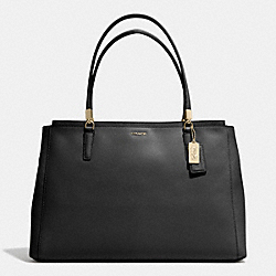 COACH MADISON SAFFIANO LARGE CHRISTIE CARRYALL - LIGHT GOLD/BLACK - F29430