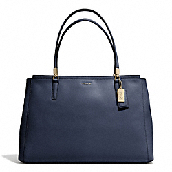 MADISON SAFFIANO LARGE CHRISTIE CARRYALL - LIGHT GOLD/NAVY - COACH F29430