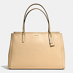 COACH MADISON SAFFIANO LARGE CHRISTIE CARRYALL - LIGHT GOLD/TAN - F29430
