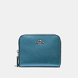SMALL ZIP AROUND WALLET - METALLIC ICE/SILVER - COACH F29444