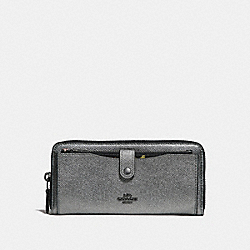 MULTIFUNCTION WALLET WITH CONSTELLATION PRINT - f29446 - ANTIQUE NICKEL/GUNMETAL