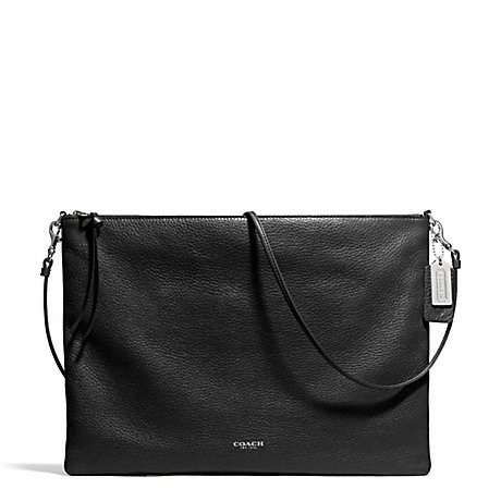 COACH BLEECKER DAILY SHOULDER BAG IN LEATHER -  SILVER/BLACK - f29461