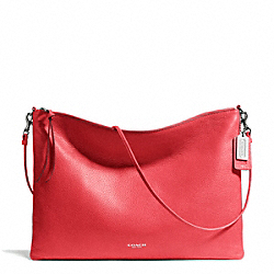 COACH BLEECKER LEATHER DAILY SHOULDER BAG - SILVER/LOVE RED - F29461