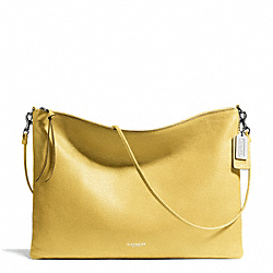 COACH BLEECKER LEATHER DAILY SHOULDER BAG - SILVER/PALE LEMON - F29461