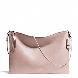 COACH BLEECKER LEATHER DAILY SHOULDER BAG - SILVER/NEUTRAL PINK - F29461