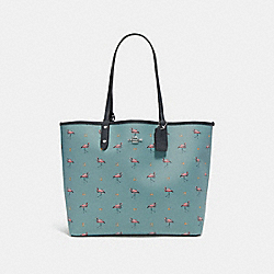 REVERSIBLE CITY TOTE WITH FLAMINGO PRINT - SVNGV - COACH F29558