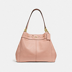 LEXY SHOULDER BAG WITH CELESTIAL BORDER STUDS - NUDE PINK/LIGHT GOLD - COACH F29595