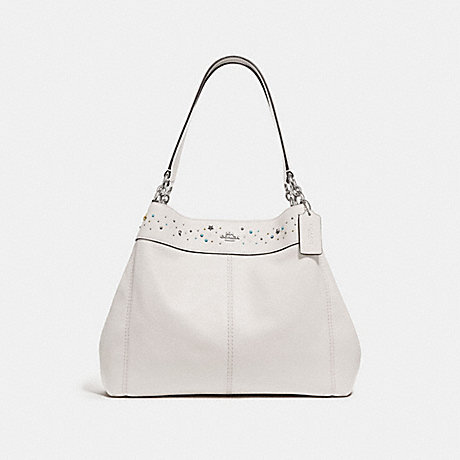 COACH LEXY SHOULDER BAG WITH CELESTIAL BORDER STUDS - SILVER/CHALK - f29595