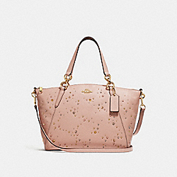 SMALL KELSEY SATCHEL WITH CELESTIAL STUDS - NUDE PINK/LIGHT GOLD - COACH F29597