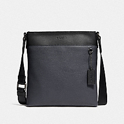METROPOLITAN SLIM MESSENGER IN COLORBLOCK - QB/MIDNIGHT NAVY/BLACK - COACH F29626