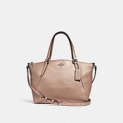 MINI KELSEY SATCHEL - ROSE GOLD/SILVER - COACH F29639
