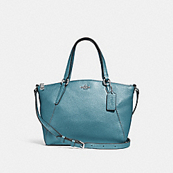 MINI KELSEY SATCHEL - METALLIC SKY BLUE/SILVER - COACH F29639