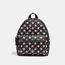 COACH MINI CHARLIE BACKPACK WITH STAR PRINT - MIDNIGHT MULTI/SILVER - F29656
