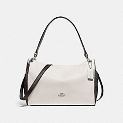 MIA SHOULDER BAG IN COLORBLOCK - f29658 - CHALK MULTI/SILVER